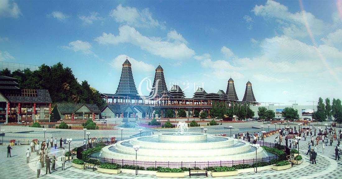 贵州多彩文化万象旅游城策划规划、设计案例