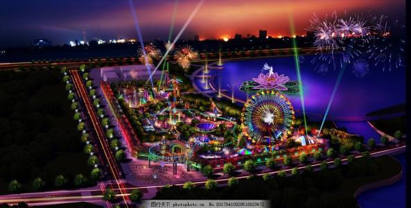 主题乐园设计时利用好灯光营造不一样的乐园!
