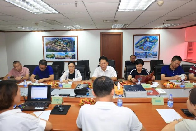 快讯:梅州市梅江区朱国城书记一行到创艺园文旅集团座谈交流