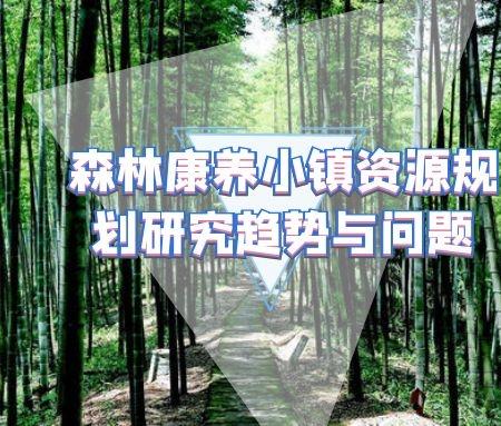 森林康养小镇资源规划研究趋势与问题
